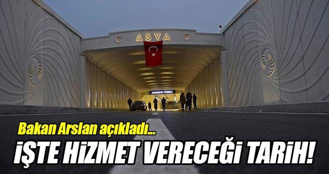 Bakan Arslan Avrasya Tüneli'nin hizmet vereceği tarihi açıkladı!