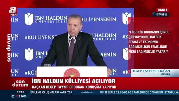 Son dakika! Cumhurbaşkanı Erdoğan'dan 'Eğitimde reform' çağrısı   Video