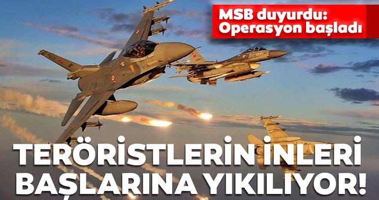 Son dakika haberi... MSB duyurdu: Pençe-Kartal Operasyonu başladı