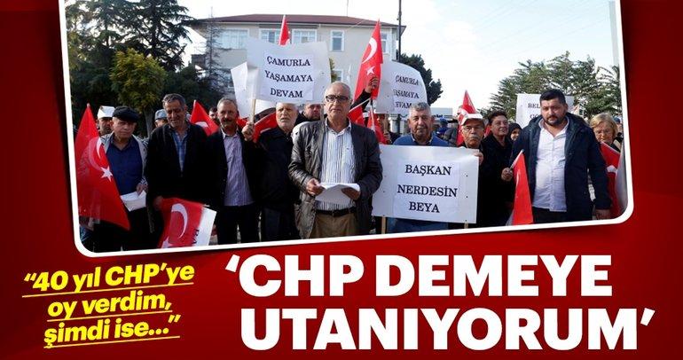 CHP'li belediyeye siyah çelenk bıraktılar