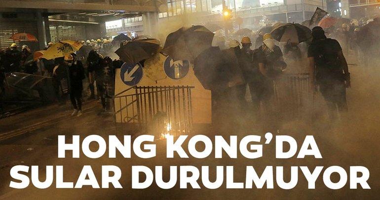 Hong Kong'da protestolar durmuyor