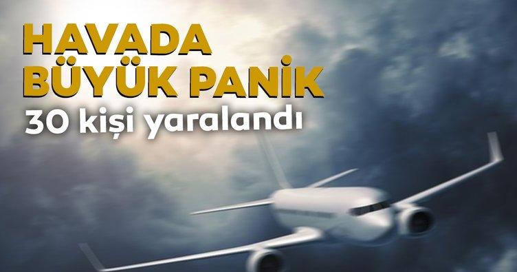 Yolcu uçağı türbulansa girdi: 37 yaralı