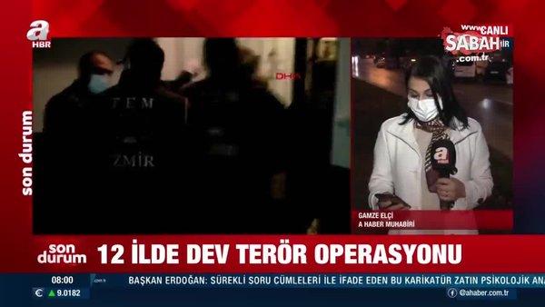 Son dakika! İzmir merkezli 12 ilde terör operasyonu: 48 gözaltı | Video