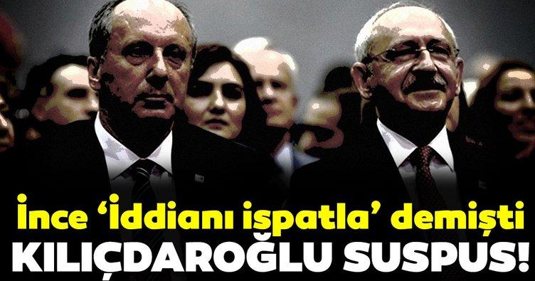 Kılıçdaroğlu, Muharrem İnce'in çağrısına cevap vermedi!