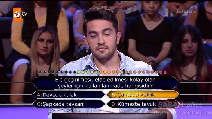 Kim Milyoner Olmak İster 112. özel bölüm soru ve cevapları! O soru geceye damga vurdu