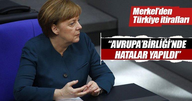 Almanya Başbakanı Merkel: AB'de hatalar yapıldı