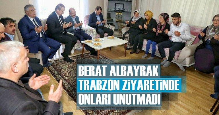 Bakan Berat Albayrak, Trabzon ziyaretinde onları unutmadı!