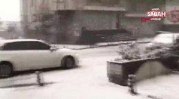 Son Dakika! İstanbul'daki yoğun kar yağışı kamerada... Caddeler sokaklar beyaza büründü | Video
