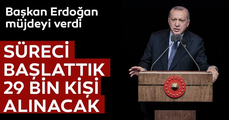 Son dakika... Cumhurbaşkanı Erdoğan'dan müjde! Süreç başladı...