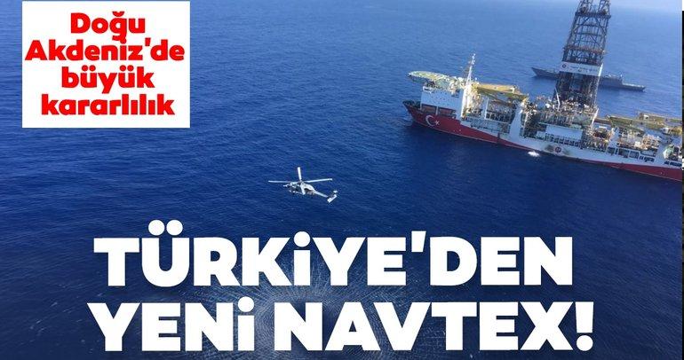 Son dakika | Doğu Akdeniz'de büyük kararlılık! Türkiye'den yeni NAVTEX ilanı