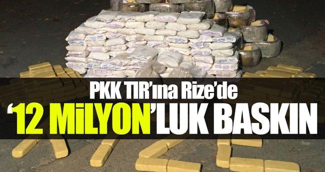 PKK'nın uyuşturucu TIR'ı Rize'de yakalandı!