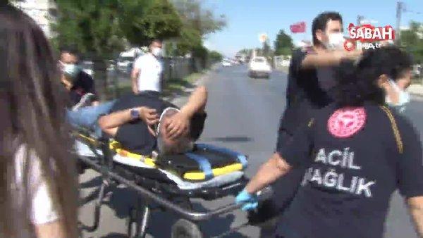Antalya'da ters dönen aracın içinde sıkıştı, cep telefonunu elinden bırakmadı
