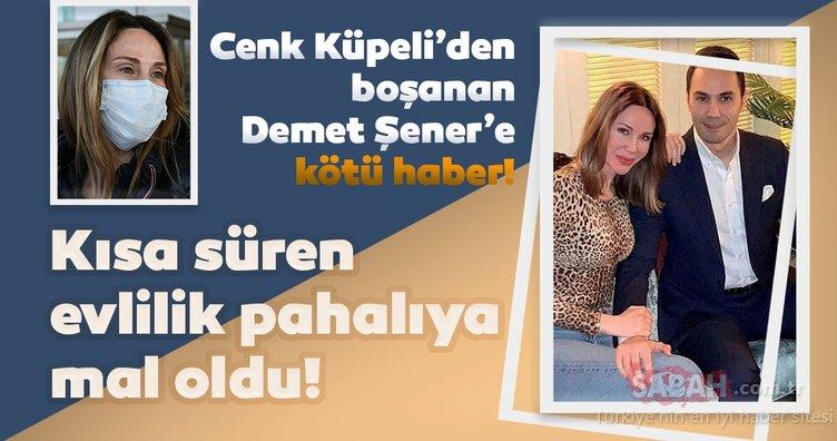 Cenk Küpeli'den boşanan Demet Şener'e kötü haber! Kısa süren evlilik pahalıya mal oldu