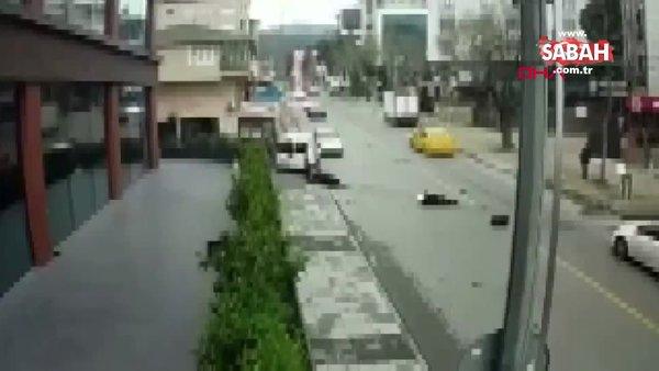İstanbul Maltepe'deki feci motosiklet kazasının görüntüleri ortaya çıktı