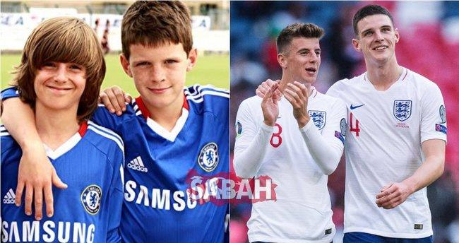 Çocukluk arkadaşları EURO 2020'de! Mason Mount ve Declan Rice İngiltere Milli Takımı ile ilk 11'de sahaya çıktı...