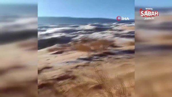 Sahra çölüne kar yağdı | Video