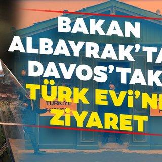 Bakan Albayrak'tan Davos'taki Türk Evi'ne ziyaret