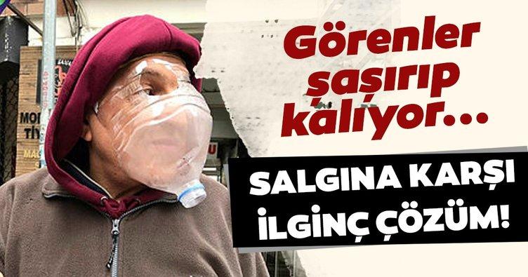 Kadıköy'de esnaf coronavirüse karşı ilginç çözüm! Görenler şaşırıp kalıyor