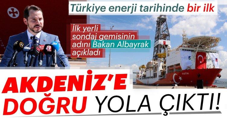 Bakan Albayrak: Sondaj gemimize güçlü mirasımızı yaşatması için 'Fatih' ismini koyduk