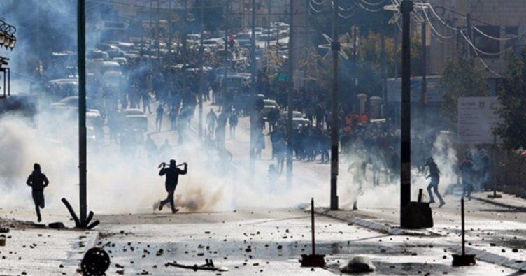 Filistin intifada çağrısı yaptı! İsrail polisi ve Filistinliler çatışıyor