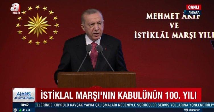 Son dakika: Başkan Erdoğan'dan çok net İstiklal Marşı mesajı: 84 milyonun ortak paydasıdır