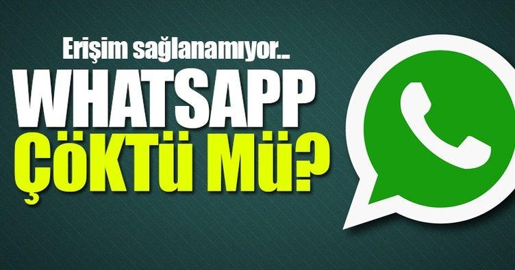 Whatsapp çöktü mü? - Whatsapp'a neden girilmiyor ve mesaj gönderilmiyor? - İşte detaylar
