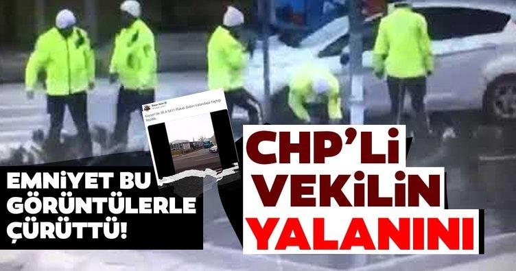 CHP'li vekil Özkan Yalım'ın polis vatandaş dövdü iddiası yalan çıktı! Emniyet'ten açıklama geldi