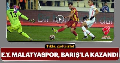 Evkur Yeni Malatyaspor, Barış Alıcı ile kazandı
