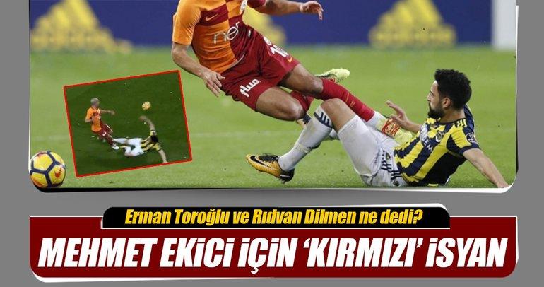 Galatasaray'dan Fenerbahçeli Mehmet Ekici için 'kırmızı' isyanı!