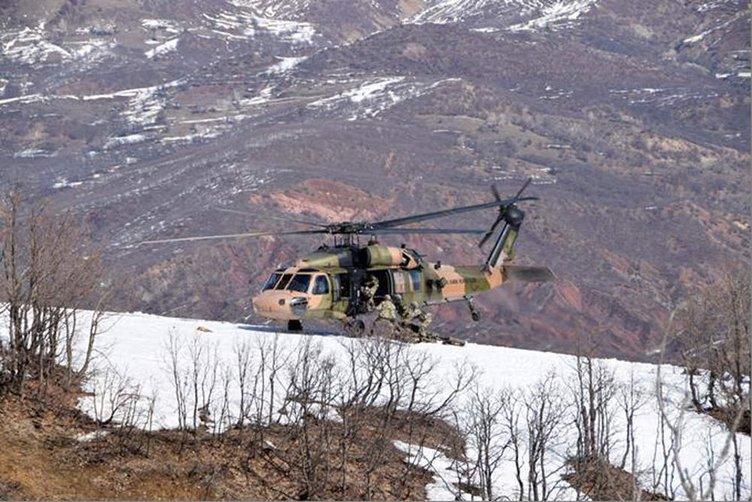 TSK 4 ilde yaptığı operasyonun fotoğraflarını paylaştı