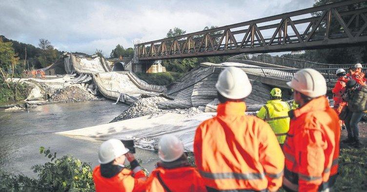70 yıllık köprüyü yıktılar