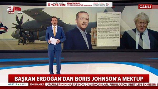 Başkan Erdoğan'dan Boris Johnson'a mektup