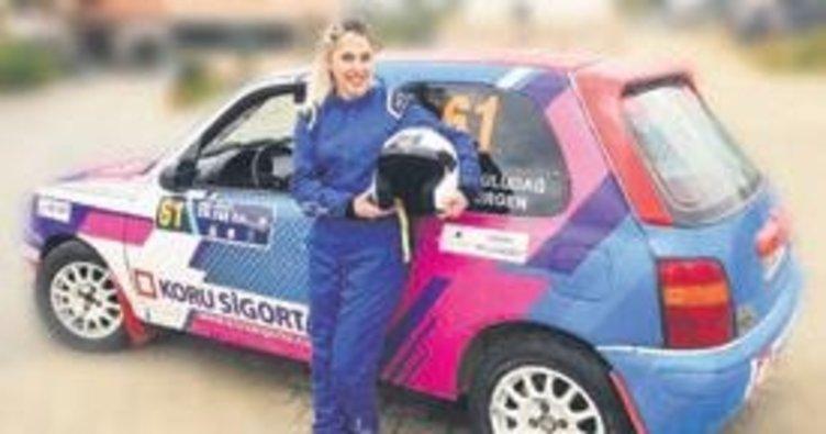 Ralli pilotu Gülcan'ın sponsoru Koru Sigorta