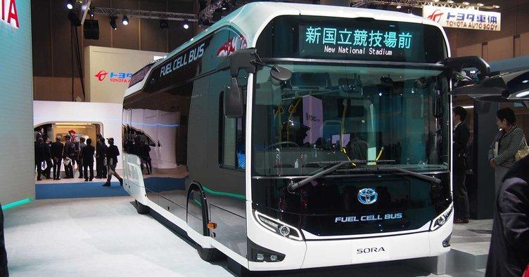 Hidrojen yakıtlı otobüs yola çıkıyor
