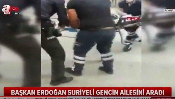 Başkan Erdoğan, Adana'da Öldürülen Suriyeli Gencin Ailesine Taziyede Bulundu!