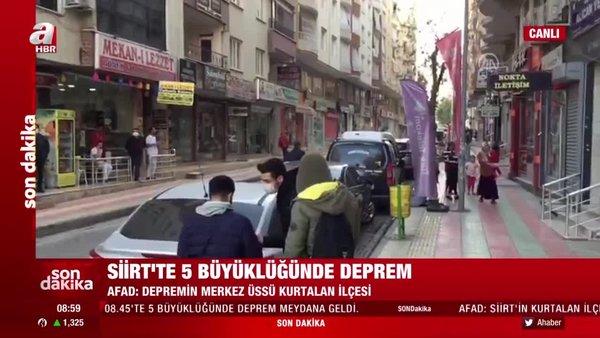 SON DAKİKA! Siirt'te 5,0 büyüklüğünde deprem! Deprem sonrası Siirt'ten ilk görüntüler   Video
