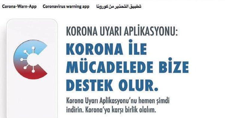 Türkçe korona uyarısı devrede