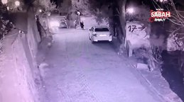 İstanbul'da yavru köpeğin otomobilin altında kaldığı anlar kamerada