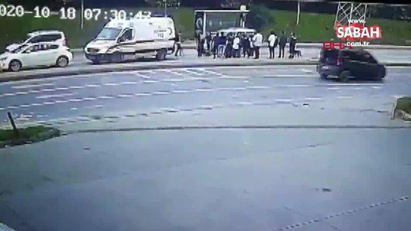 Son dakika haberi... İstanbul Arnavutköy'de kaza dehşeti! Koşarak kaçmaya çalışan iki genç kız... | Video