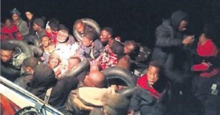 Dikili'de 41 kaçak göçmen yakalandı
