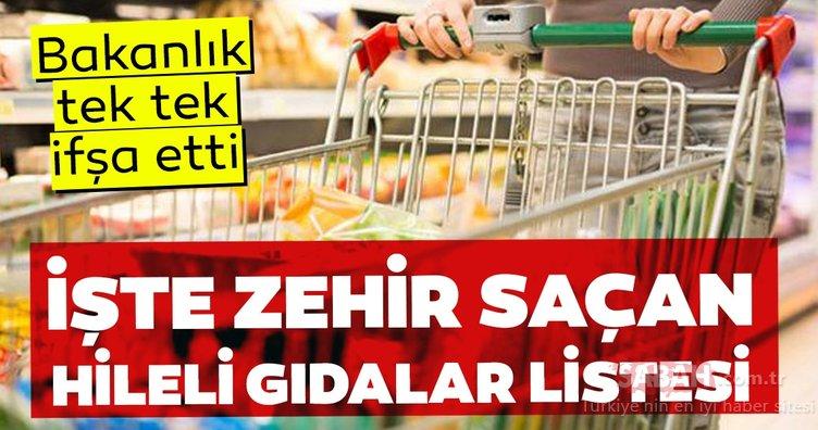 Tarım ve Orman Bakanlığı hileli gıda üreten 45 firmayı ifşa etti! İşte hileli ürünler listesi ve zehir saçan o firmalar…