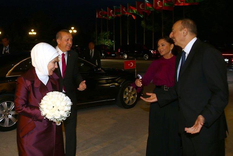 Aliyev'den Erdoğan'a sıcak karşılama