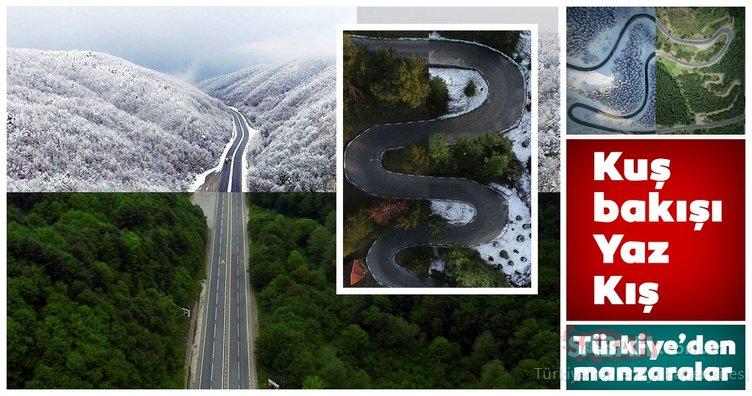 Kuş bakışı fotoğraflarla Türkiye'den muhteşem yaz-kış manzaraları
