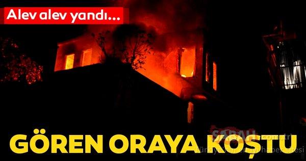 Fatih'te metruk binada yangın
