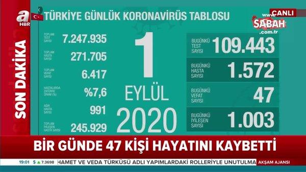 Son dakika! 1 Eylül koronavirüs rakamları açıklandı. Bakan Koca'dan önemli uyarı   Video