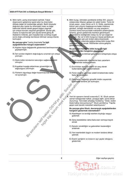 YKS soruları ve cevapları TYT, AYT, YDT 2020 erişime açıldı! ÖSYM ile 2020 YKS soruları ve cevap anahtarı tamamı BURADA!