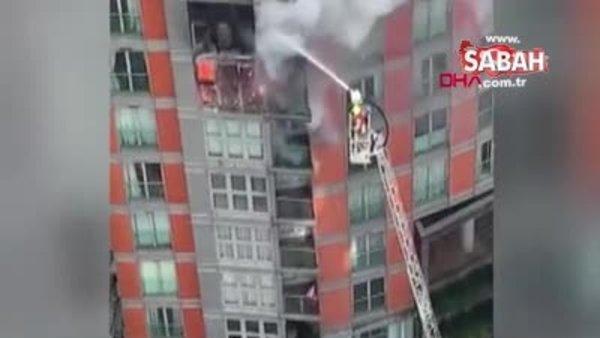 Londra'da 43 katlı apartmanda yangın | Video