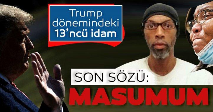 Son sözleri 'Masumum' oldu... Trump yönetiminde 13. idam!