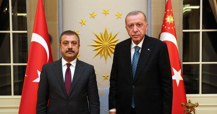 Son dakika: Başkan Erdoğan, Merkez Bankası Başkanı Şahap Kavcıoğlu'nu kabul etti