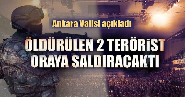 Ankara Valisi Topaca: Öldürülen 2 DEAŞ'lı terörist kongreye saldıracaktı